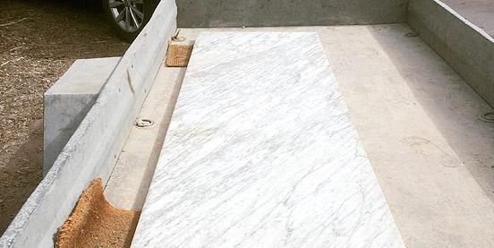 Behandla marmor utomhus