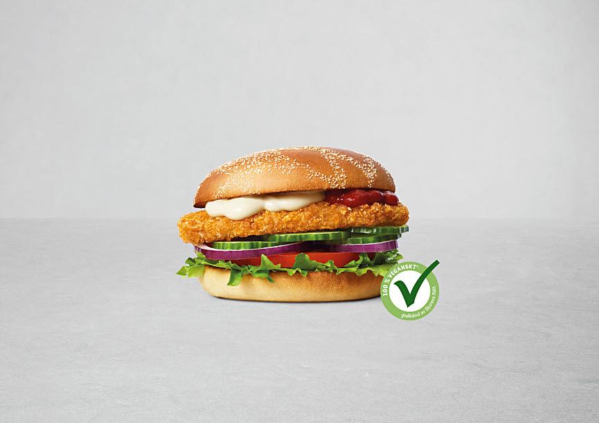 MAX hamburgare börjar mer veganmärkning i samarbete med Djurens Rätt. Foto: Max