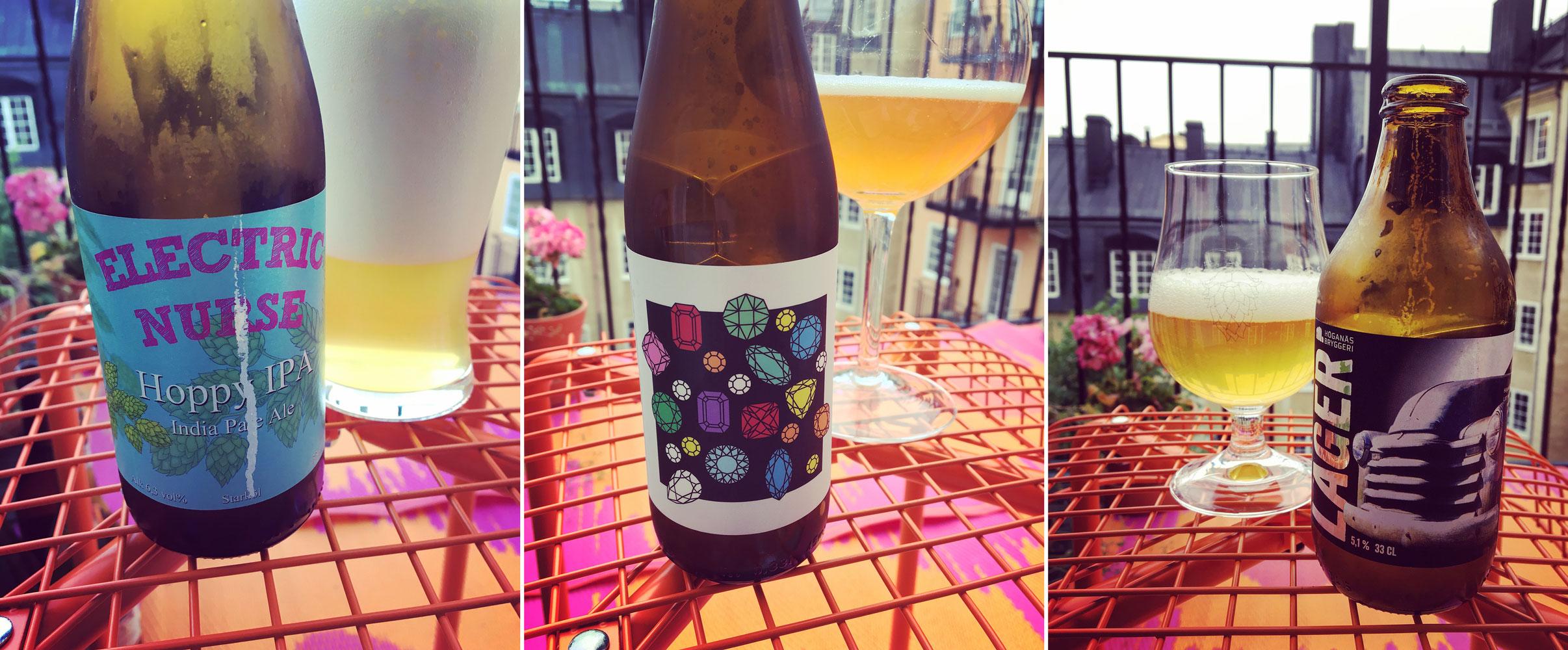 Ölets dag firas alltid den tredje onsdagen i juli. Fler och fler bryggerier ansluter dig. Här tre utmärkta exempel på svensk öl. Foto: Joel Linderoth.
