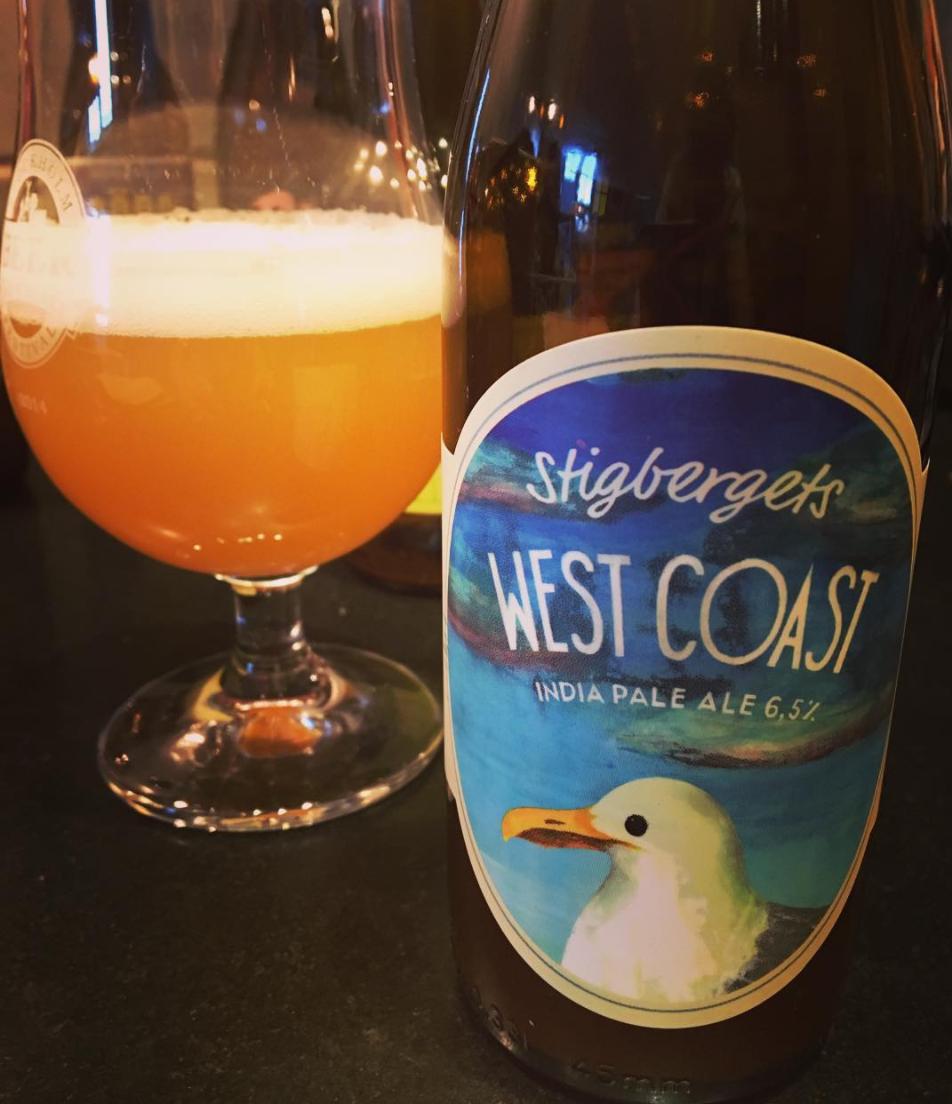 West coast India Pale Ale från Stigbergets bryggeri. Foto: Joel Linderoth.