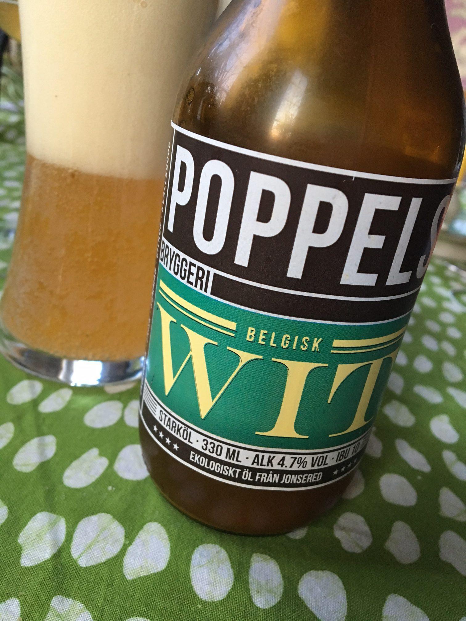 Poppels belgisk wit från Poppels bryggeri.
