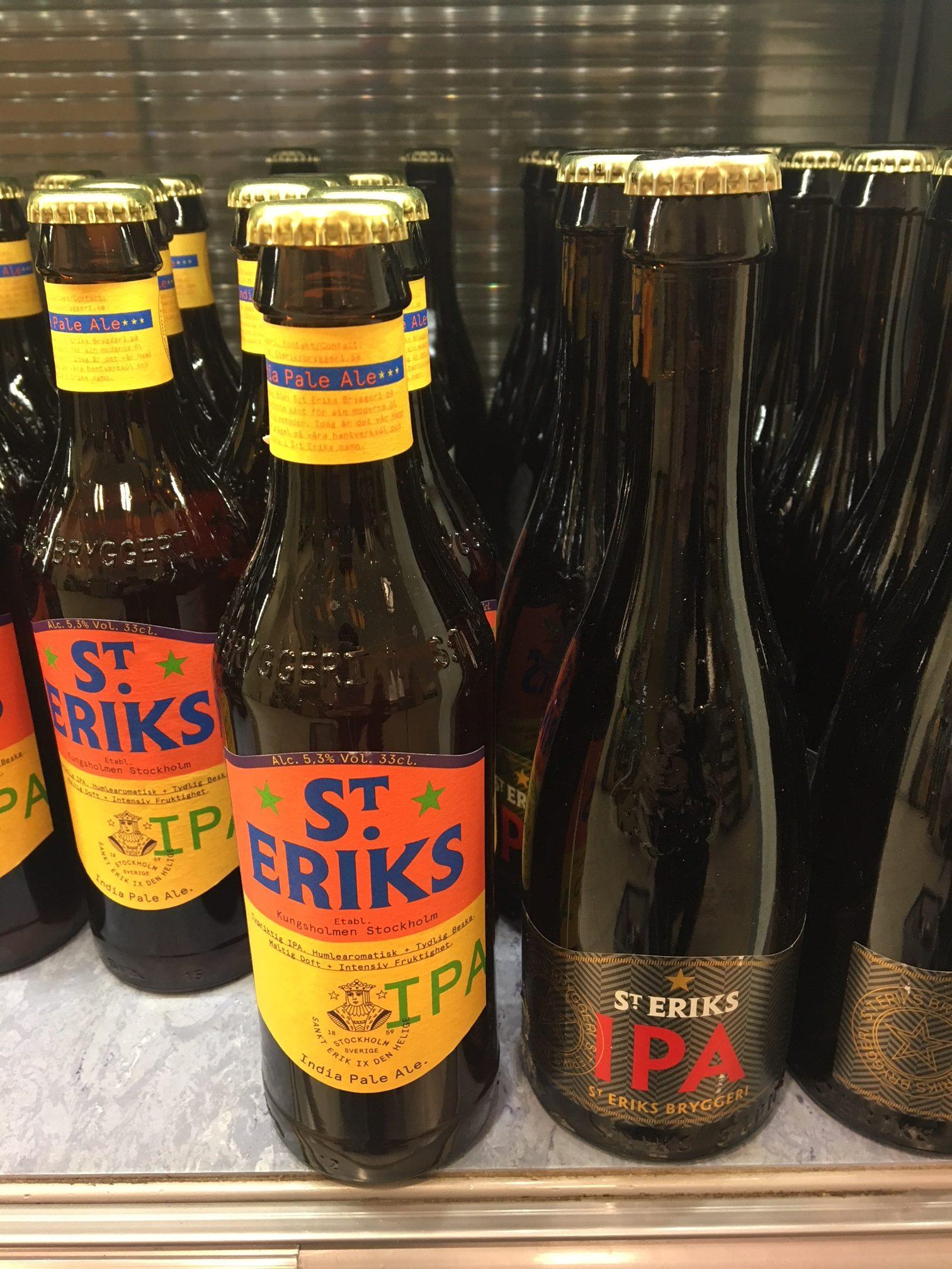 St Eriks IPA i gammalt och nytt utförande. Foto: Joel Linderoth.