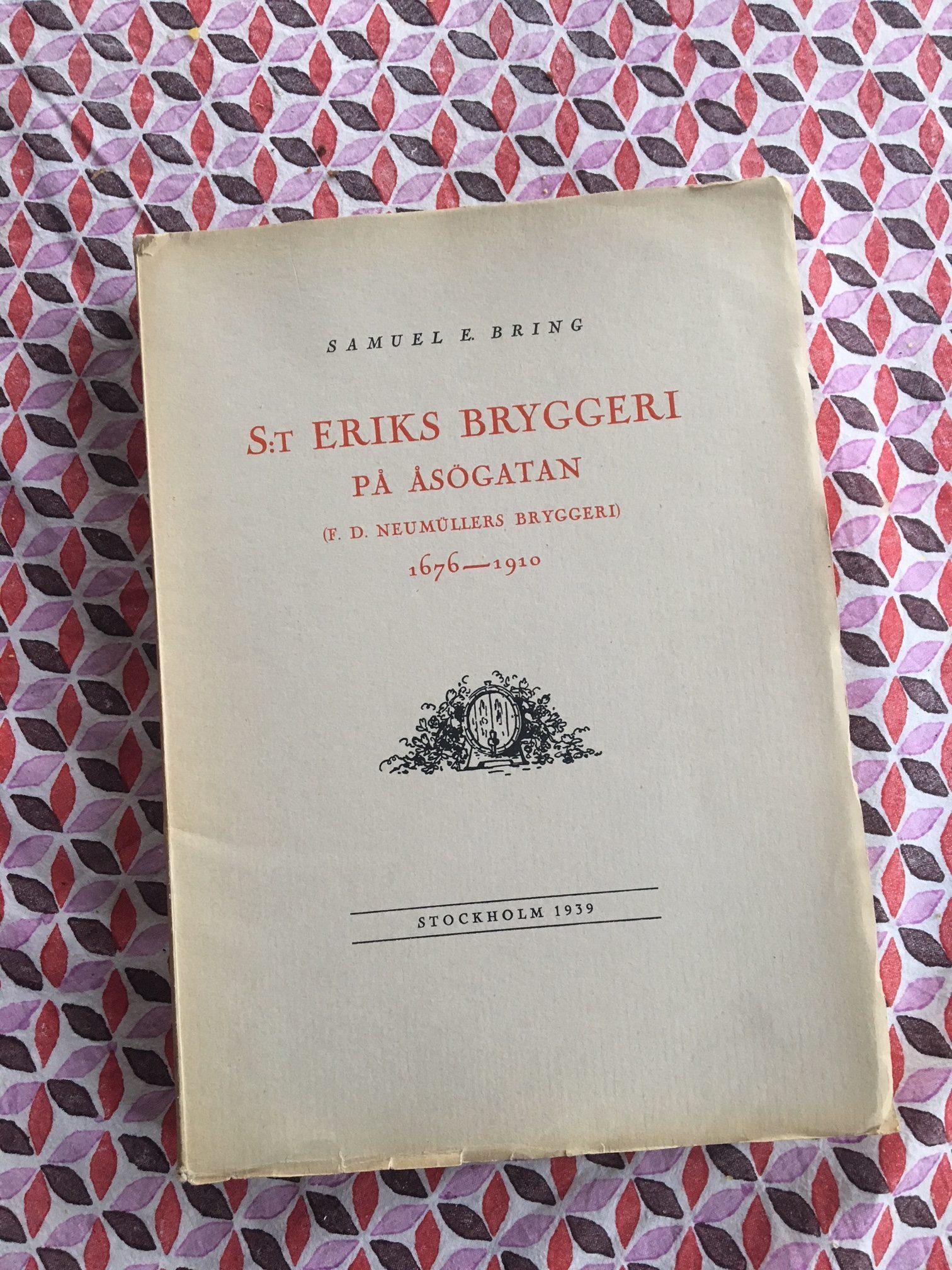 St Eriks bryggeri - historisk bok. Foto: Joel Linderoth.