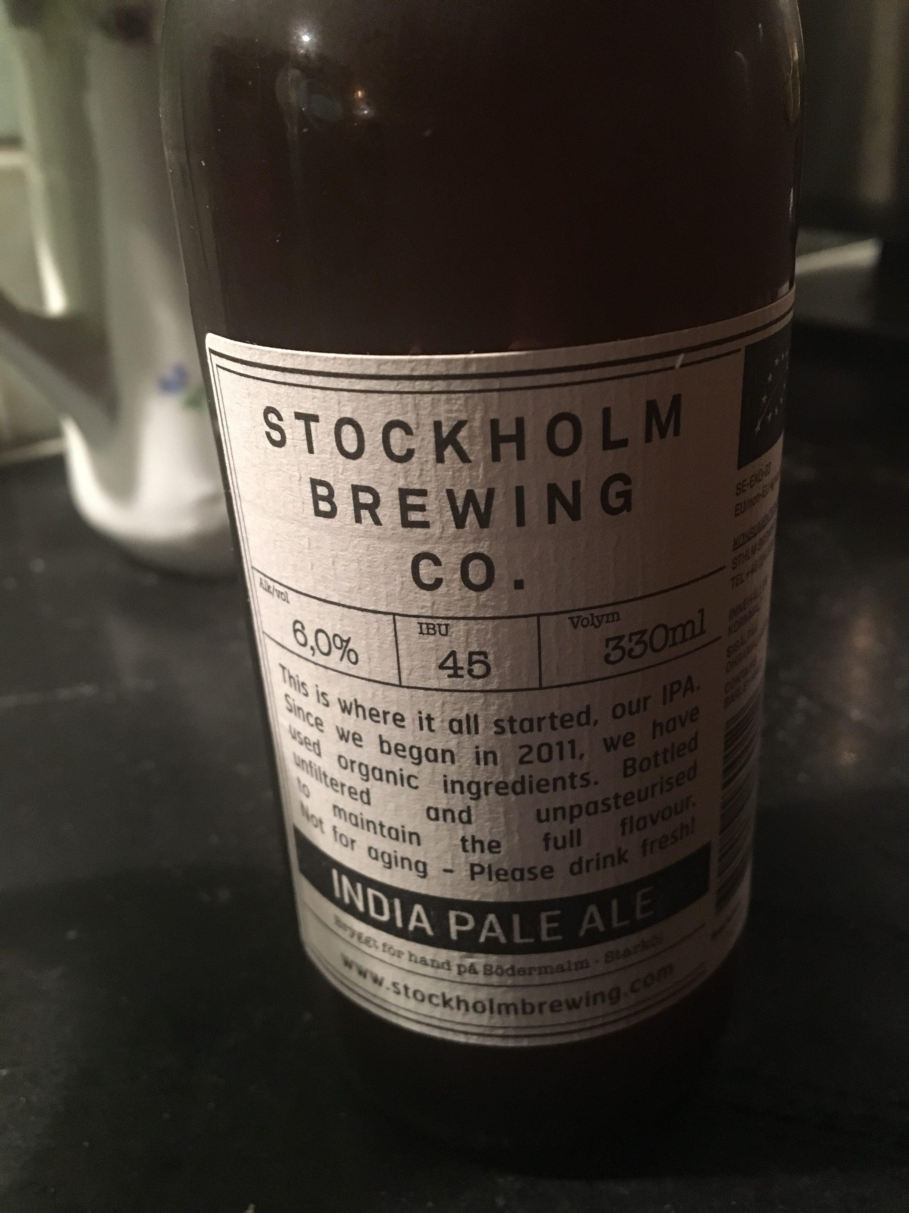 India Pale Ale från Stockholm brewing.