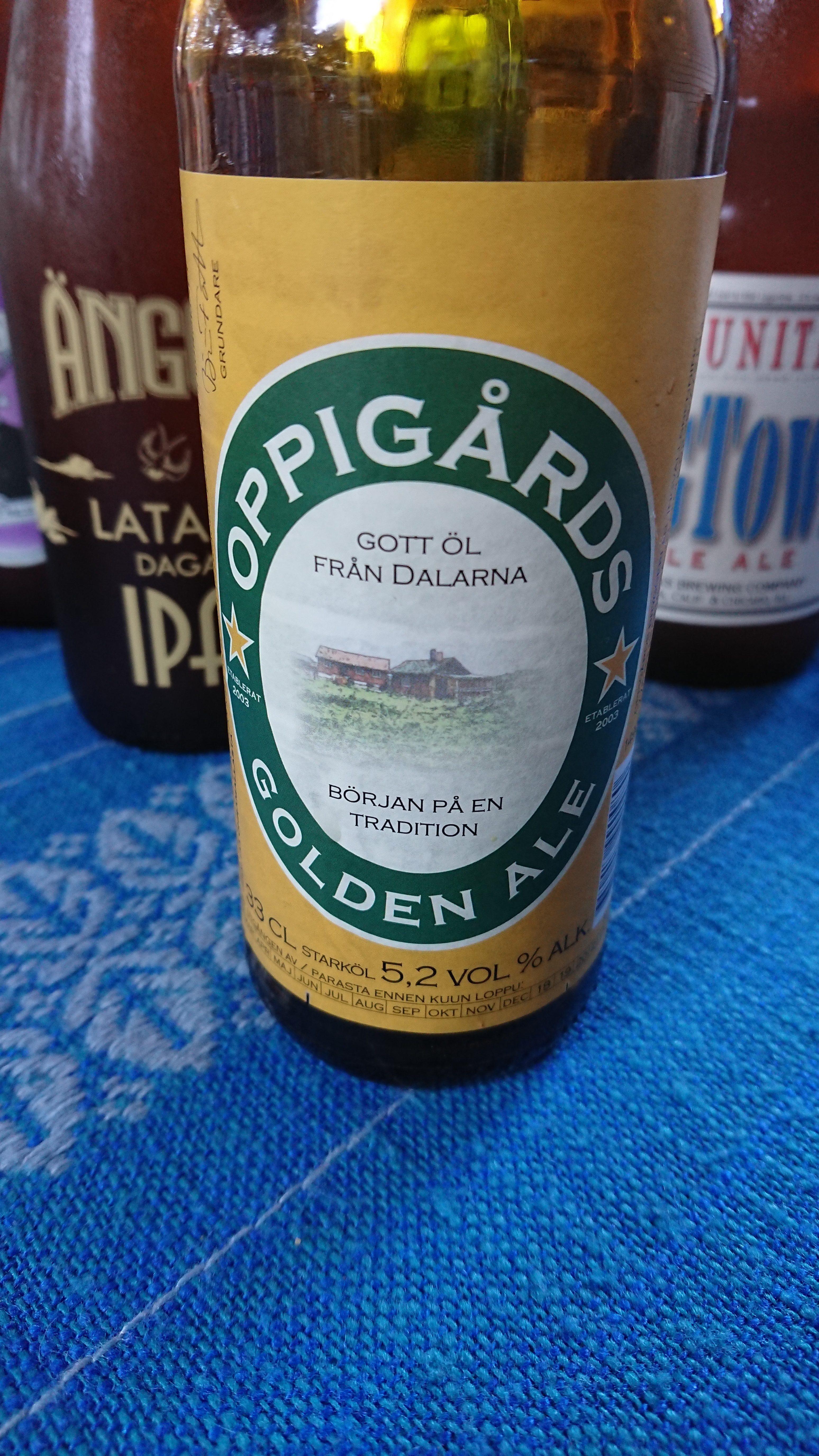 Golden Ale från Oppigårds bryggeri. Foto: Joel Linderoth.