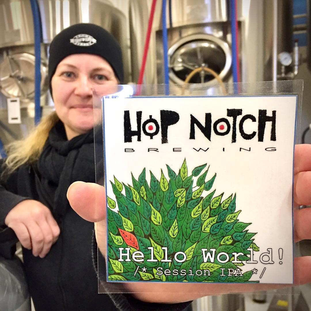 Hop Notch brewings första öl. Foto: Hop Notch brewing.