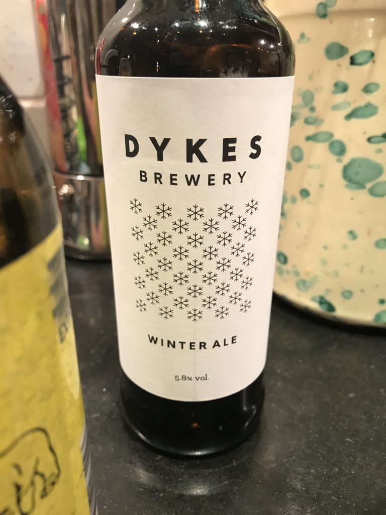 Winter ale från Dykes brewery. Foto: Joel Linderoth.