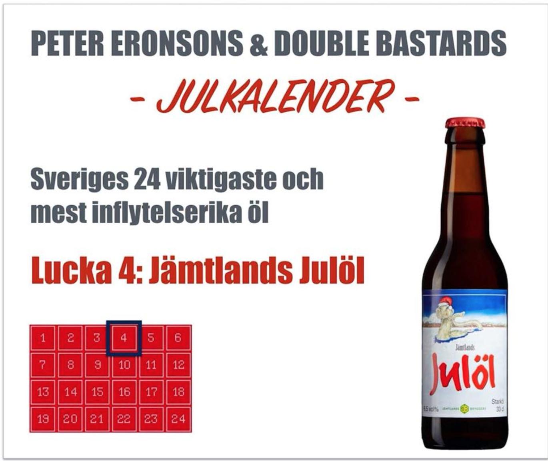 Julkalender med öl. Foto: Skärmdump.