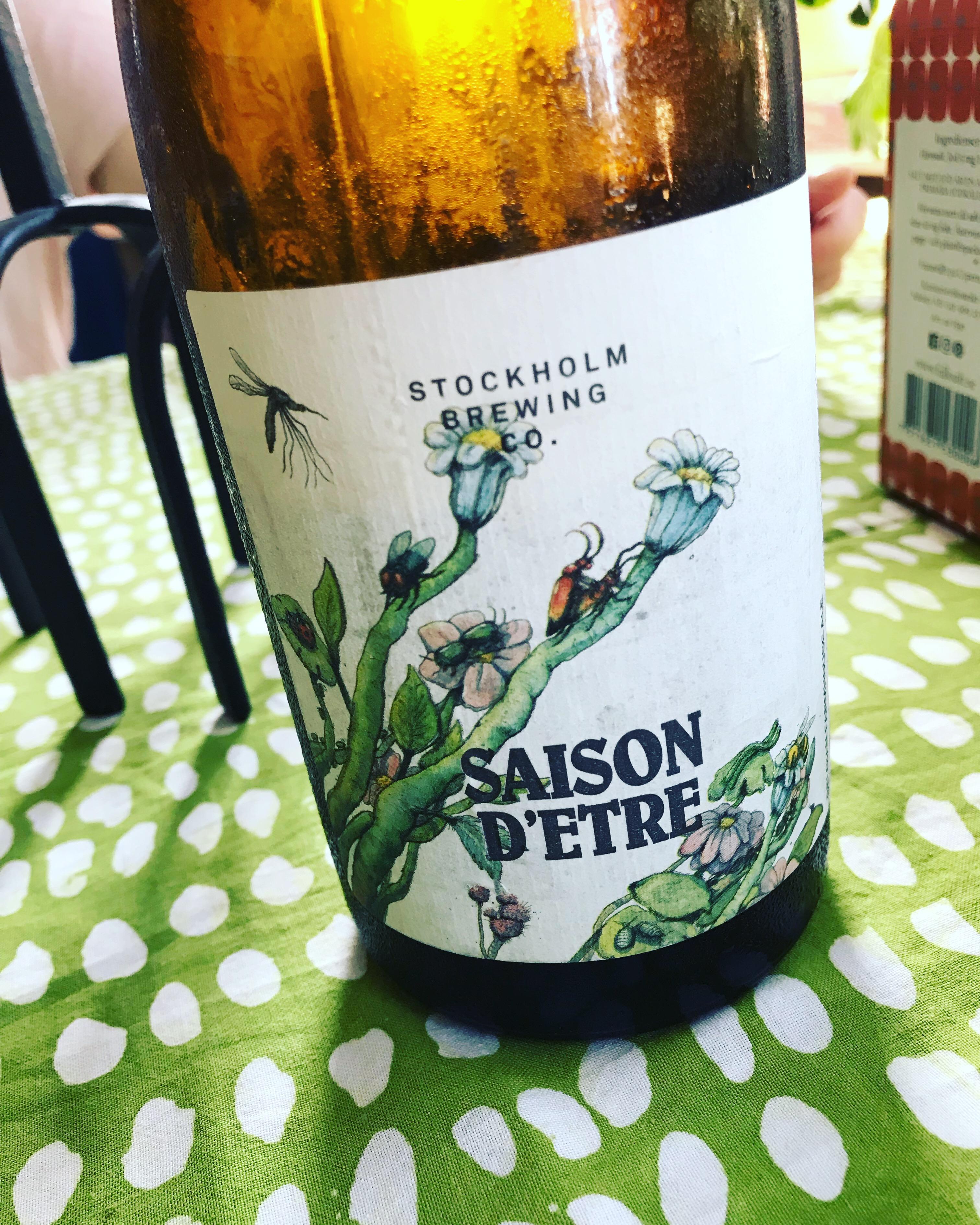 Saison d'être från Stockholm brewing. Foto: Joel Linderoth.