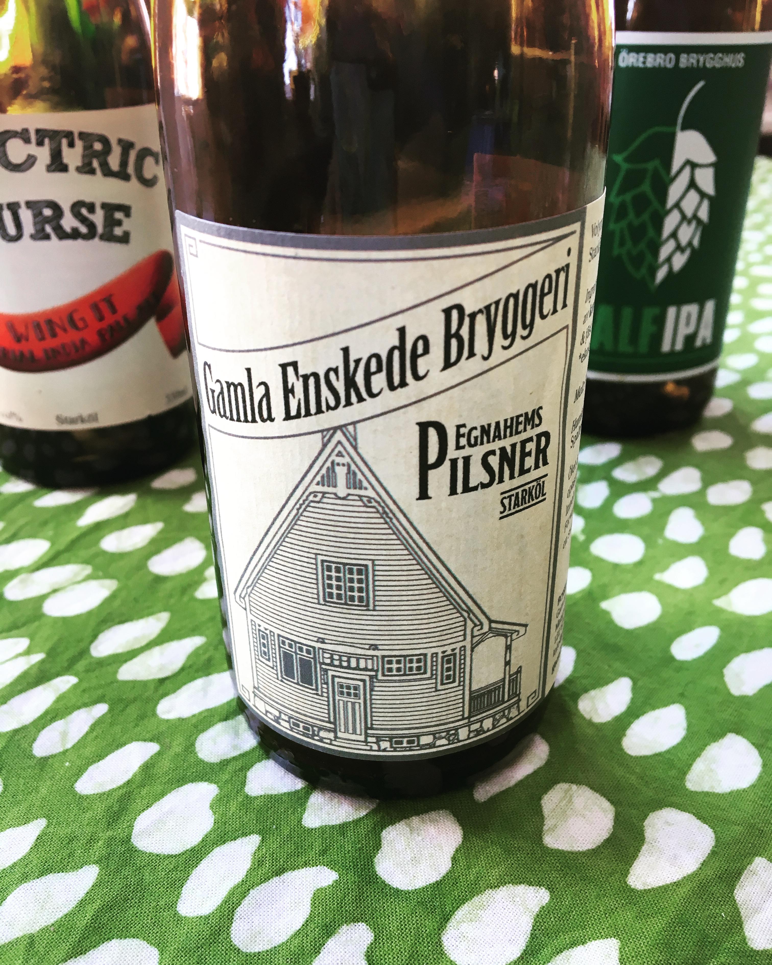 Pilsner från Gamla Enskede bryggeri. Foto: Joel Linderoth.