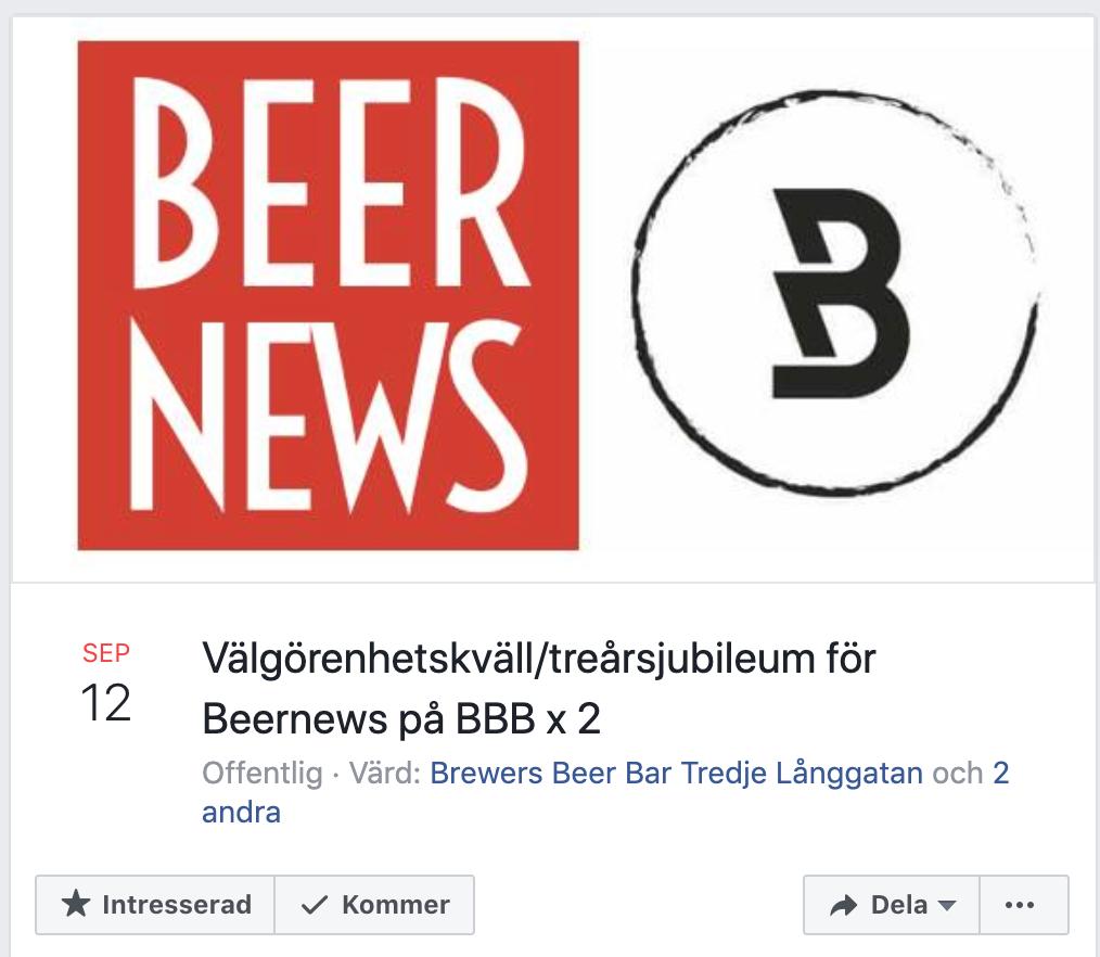 Beernews 3 år.