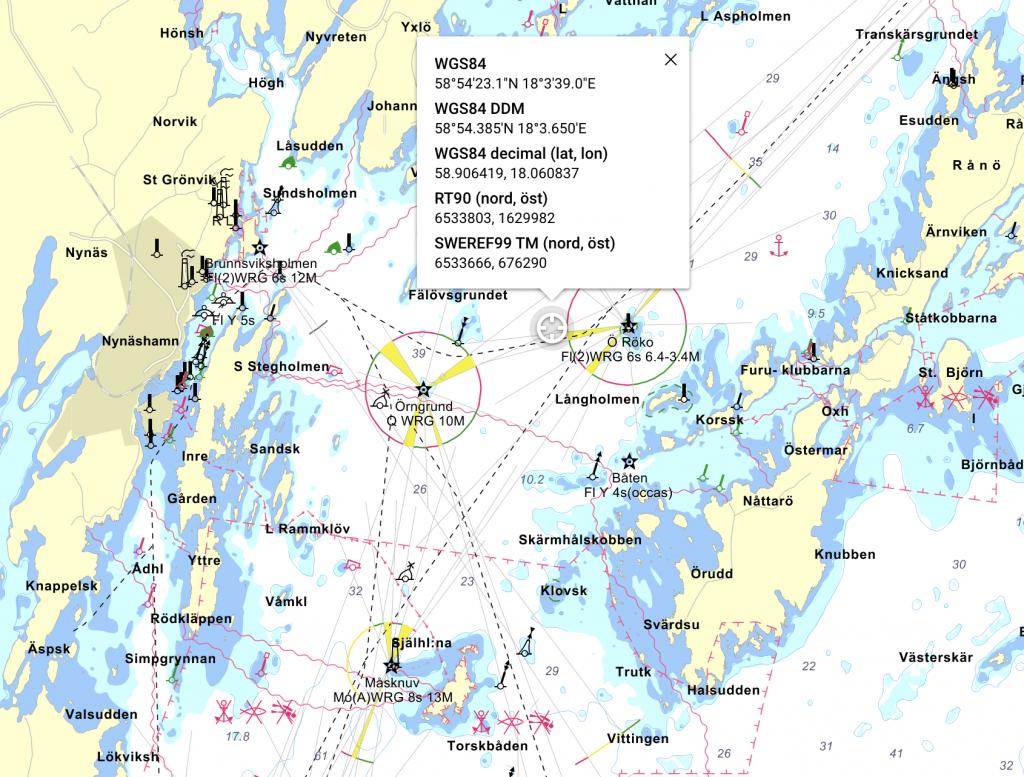 Mysingen på sjökortet