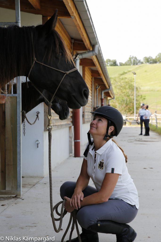 På Domaine de Fraisse är hästarna lugna för att på bästa sätt kunna hanteras av autistiska barn.