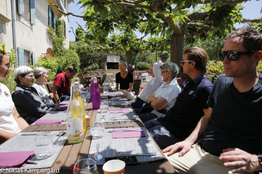 Lunch på Domaine de Fraisse.
