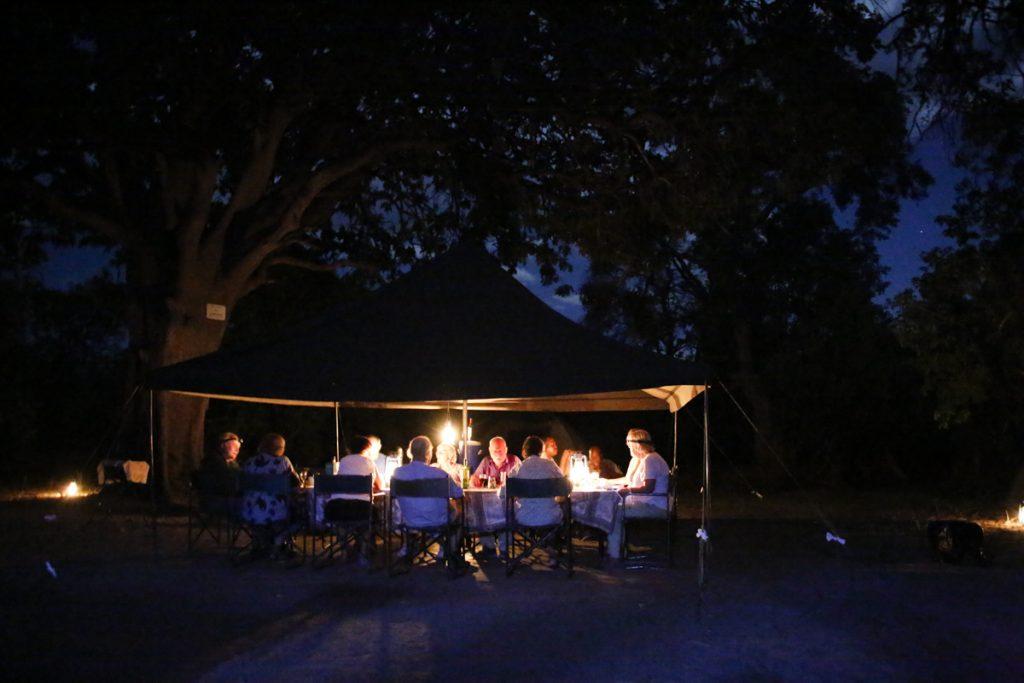Fantastisk camping under stjärnorna.