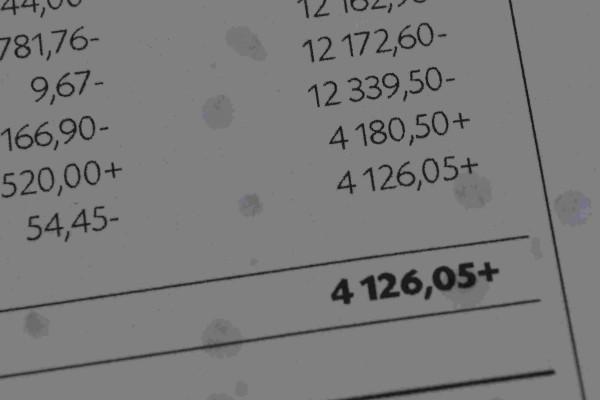 Summan på matkortet för maj månad. 4 126 kronor.