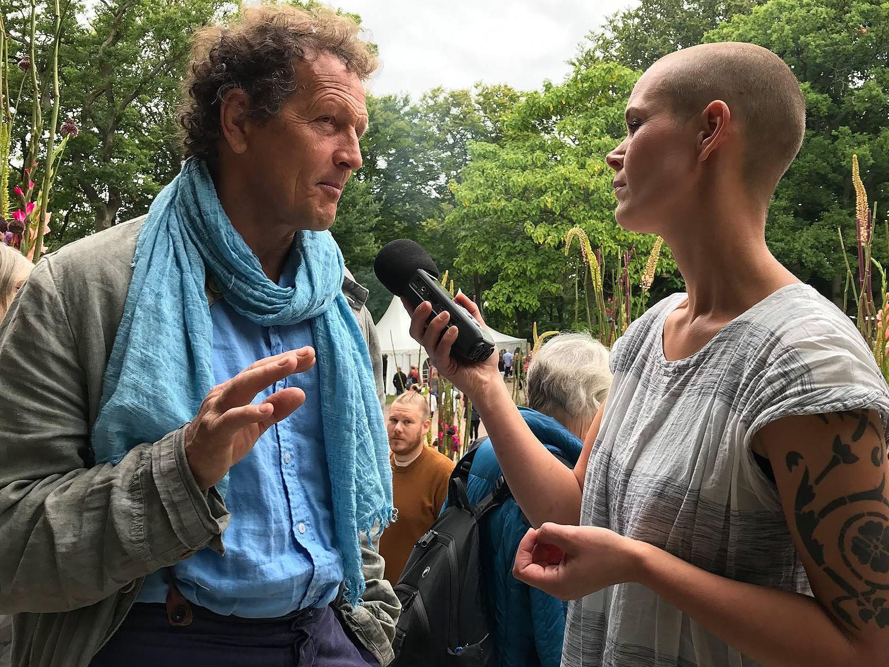 Monty Don intervjuas av Sara Bäckmo