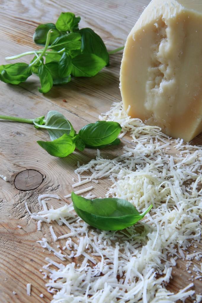 basilika, parmesan