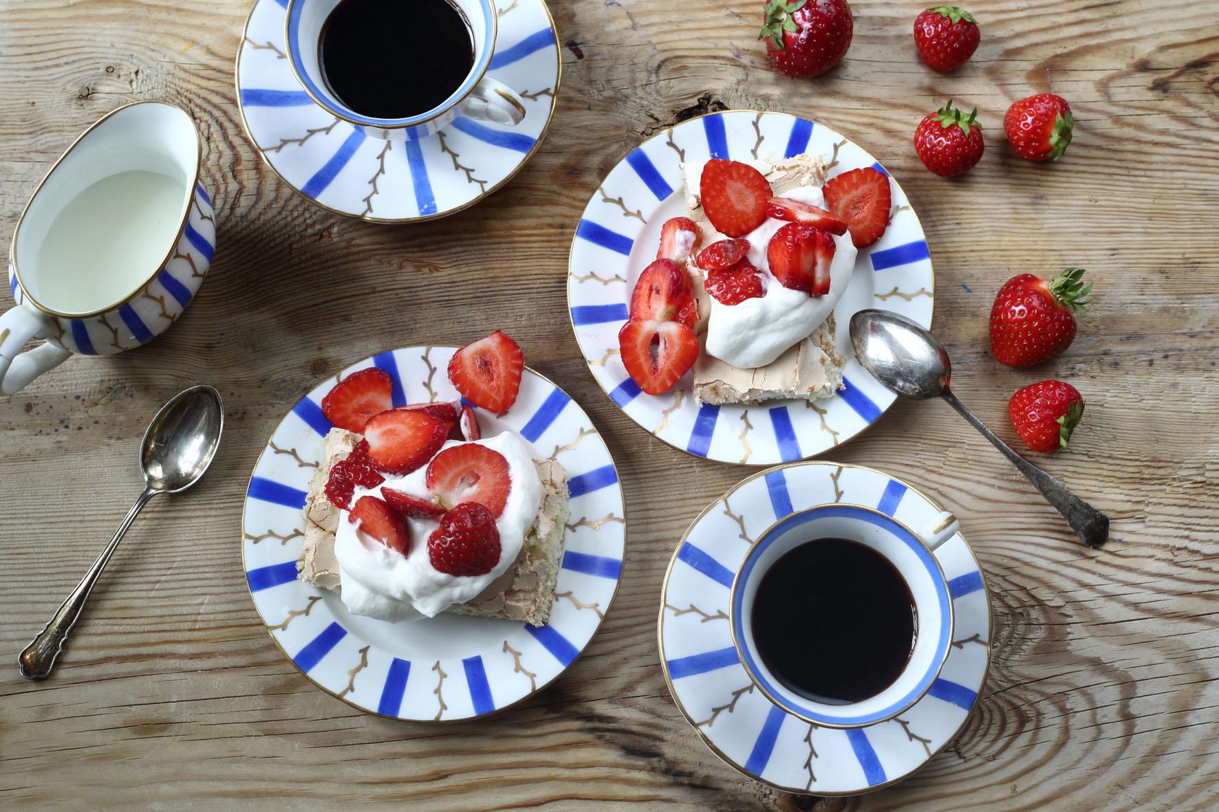 jordgubbar och grädde
