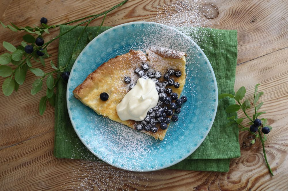 dutch baby, blåbär