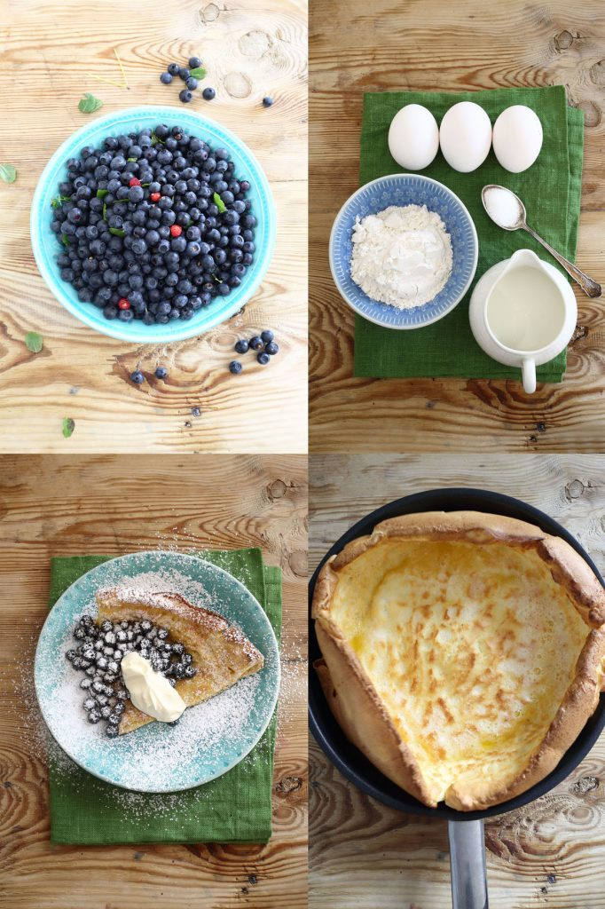 dutch baby, blåbär, galleri