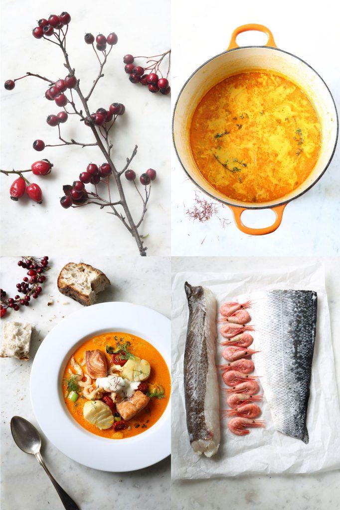 fisksoppa, saffran