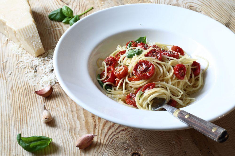 vitlök, tomat