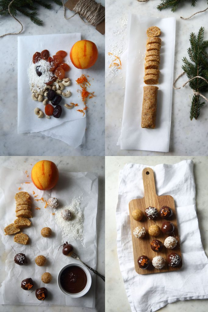 julgodis, aprikosbollar