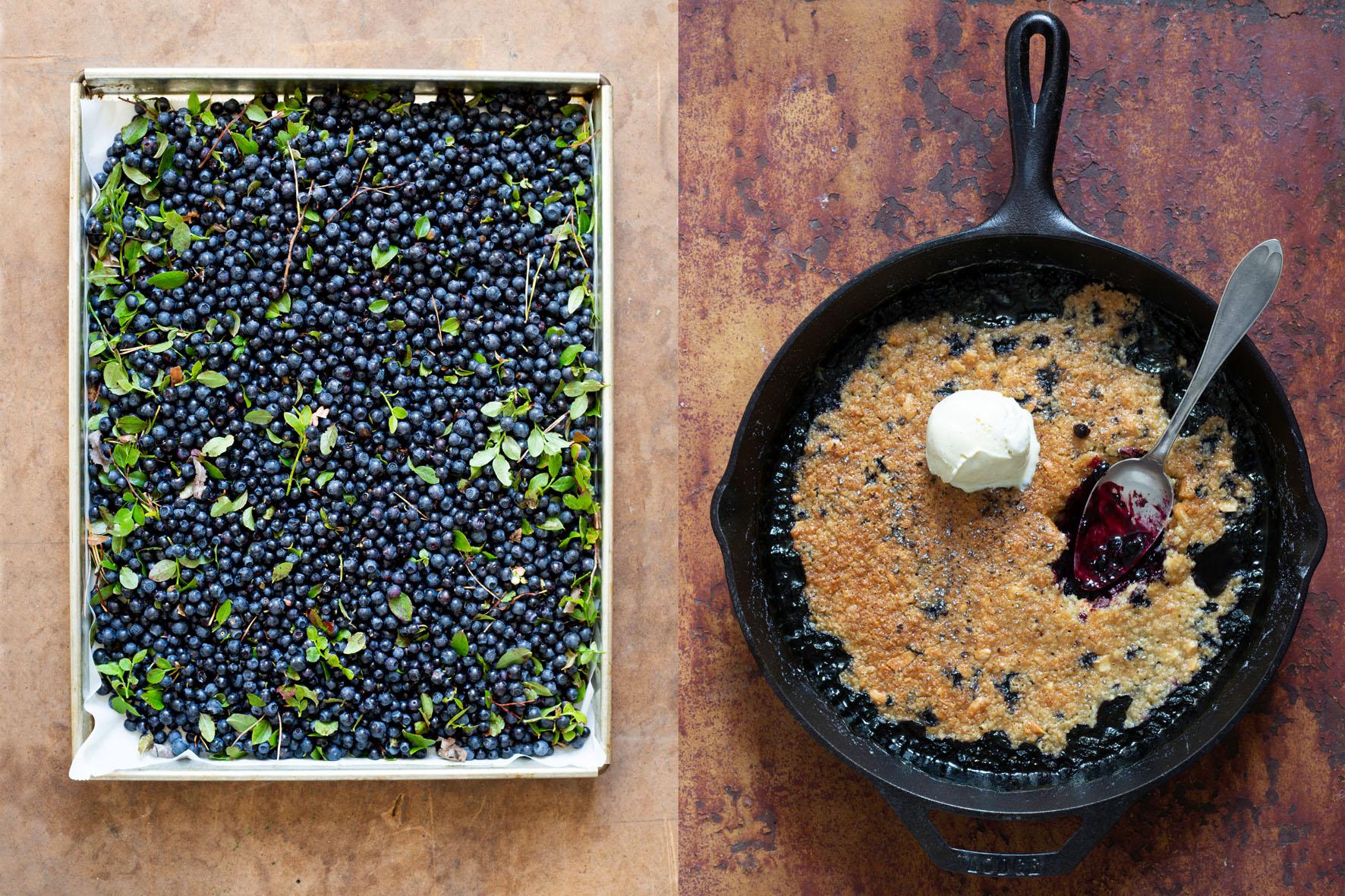 skogtilbord- blåbärspaj-knäcktäcke