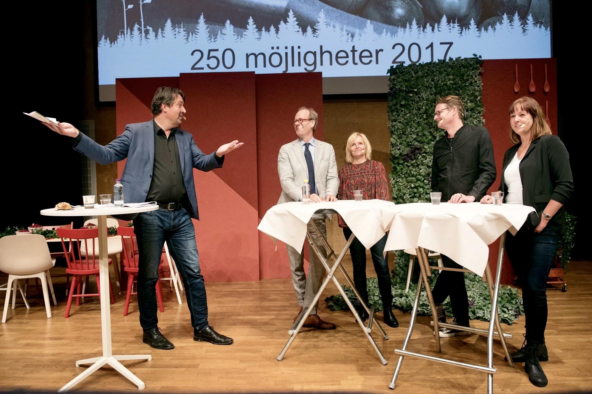 Kan verkligen hela Sverige leva var rubriken på detta panelsamtal i samband med konferensen 250 möjligheter 2017