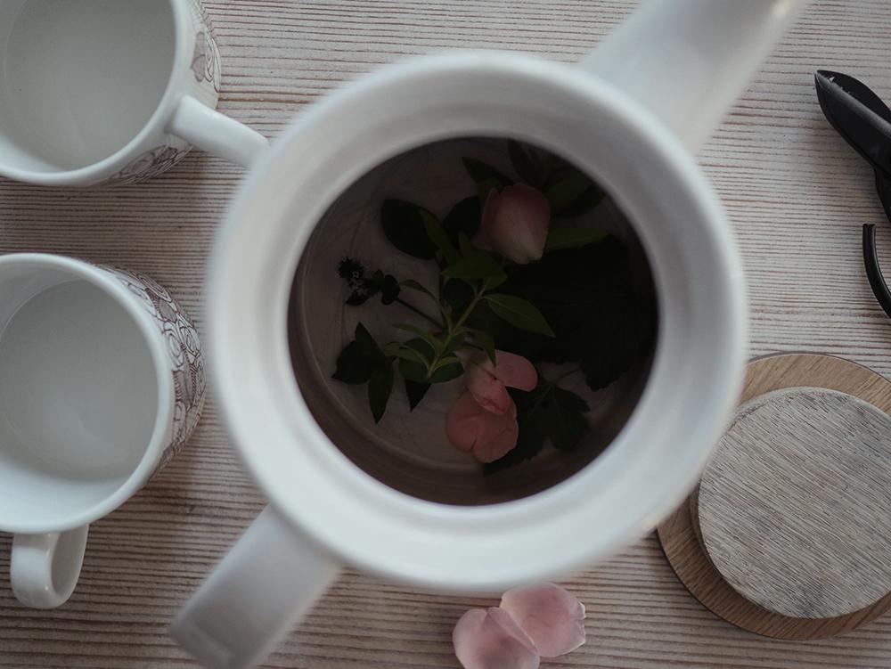 Te från trädgården